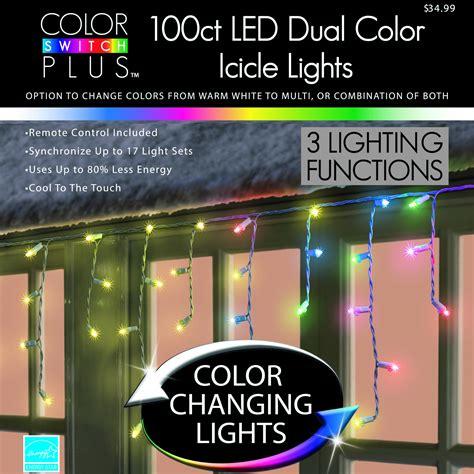 color switch plus color switch plus dual color changing led icicle