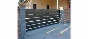 Portail Alu En Kit : portail coulissant alu ajour lame horizontale leportailalu ~ Edinachiropracticcenter.com Idées de Décoration