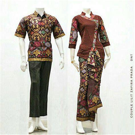 jual baju batik couple kebaya sarimbit model anita seragam