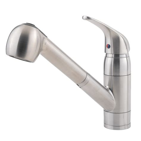 leaking single handle kitchen faucet shop pfister pfirst stainless steel 1 handle pull out