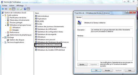 microsoft bureau à distance autoriser l 39 accès à un utilisateur bureau à distance