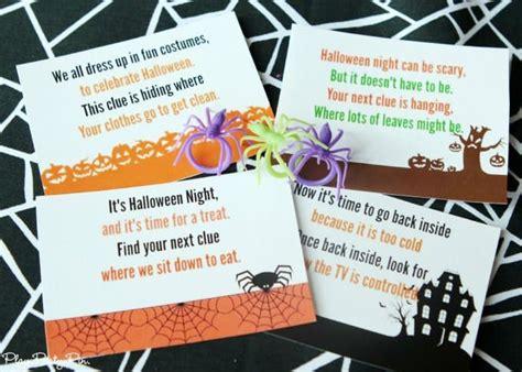 printable halloween scavenger hunt  perfect