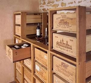 Caisse Bois Vin : mobilier caisse vin recherche google palette caisse en ~ Carolinahurricanesstore.com Idées de Décoration