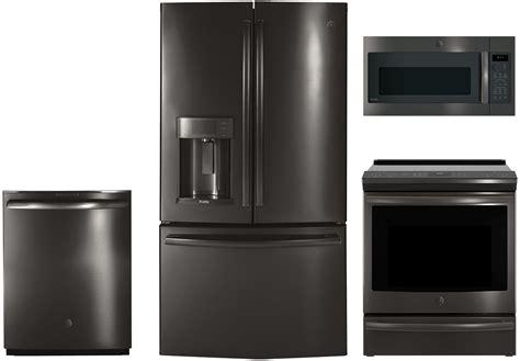 sleek black stainless steel appliances ge appliances