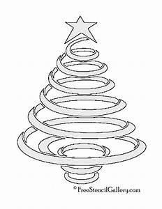 Christmas, Tree, Stencil, 08