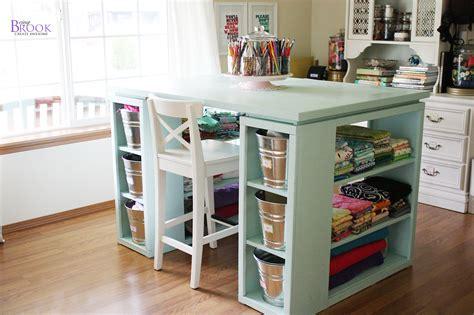 white modern craft table aqua diy projects