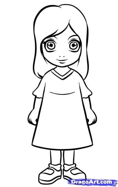 step    draw  simple girl