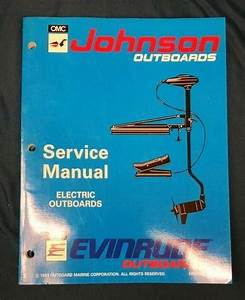 1993 Johnson Outboard Boat Motor Service Manual Electric