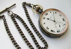 1920s Gun Metal 'rough Wear' Pocket Watch & Chain | 305270 ...