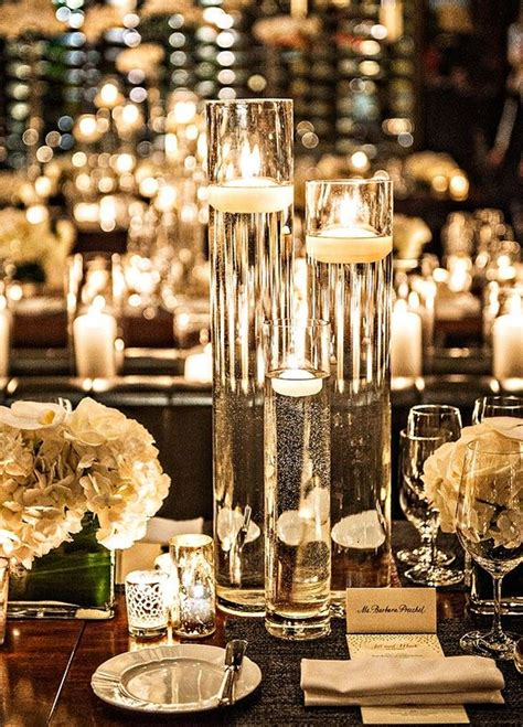 Thin Vase Centerpiece Ideas by Thin And Glass Floating Candle Holders Centerpiece