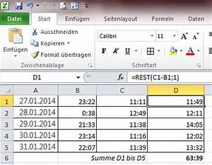 Excel Arbeitszeit Berechnen Formel : exel addiert in der tabelle die gesamtstunden falsch zusammen chip forum ~ Themetempest.com Abrechnung