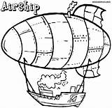 Airship Coloring Pages Colorings sketch template