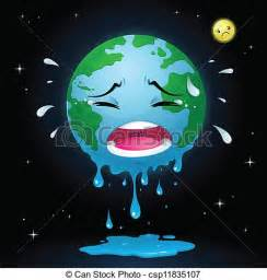 Earth Melting Global Warming Drawing