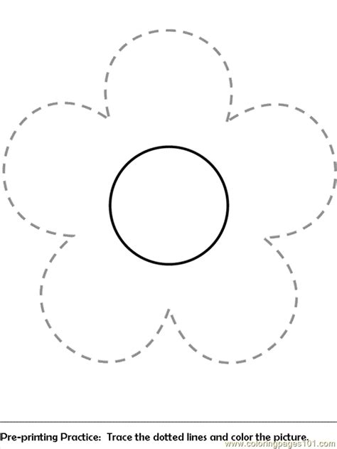 flower coloring pages pre print flower coloring page