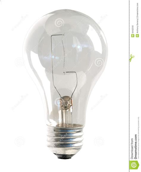 clear light bulb on white royalty free stock photos
