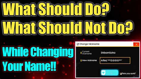 What is a name change card in free fire? Do's And Don'ts While Changing Name In Free Fire || Free ...