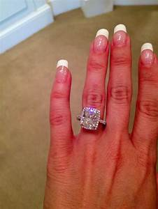 5 carat cushion cut jewelry i love pinterest halo With 5 carat wedding ring