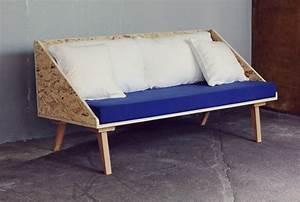 Console Derriere Canapé : little triangle plywood sofa do it diy furniture ~ Melissatoandfro.com Idées de Décoration