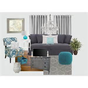 gray and teal living room polyvore