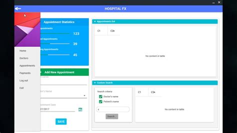 javafx material design hospital management system youtube