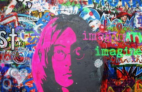 john lennon imagine graffiti wall mural muralswallpaper