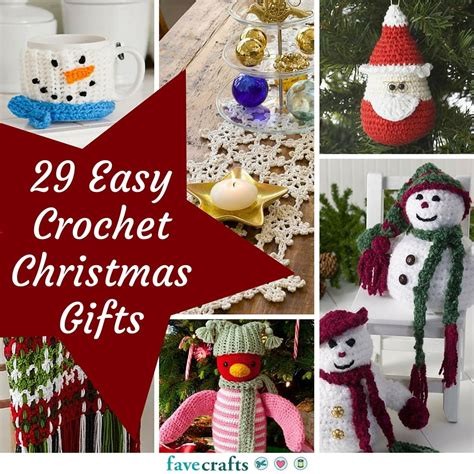 easy crochet christmas crafts 29 easy crochet gifts favecrafts