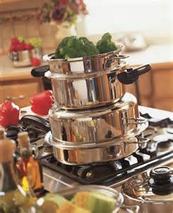 saladmaster cookware pans stacked