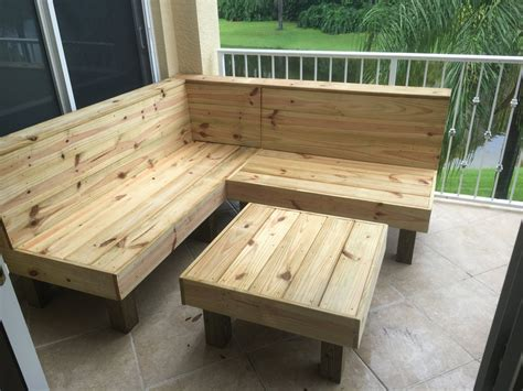 Wood Porch Bench - the sectional rustic wood patio benches and table or