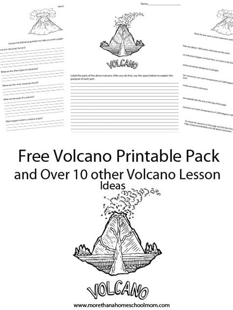 learning about volcanoes free printables and resources