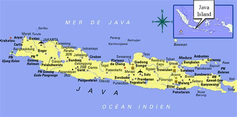 java island map  travel information