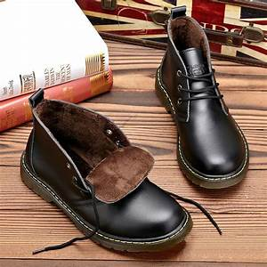 Men Genuine leather snow boots oxford formal dress shoes ...