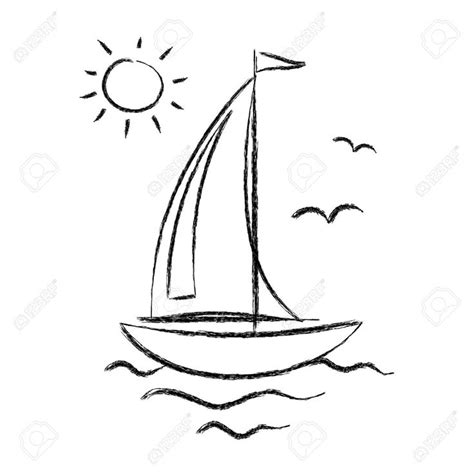 Boat Shape Drawing by Best 25 Sailboat Drawing Ideas On Boat