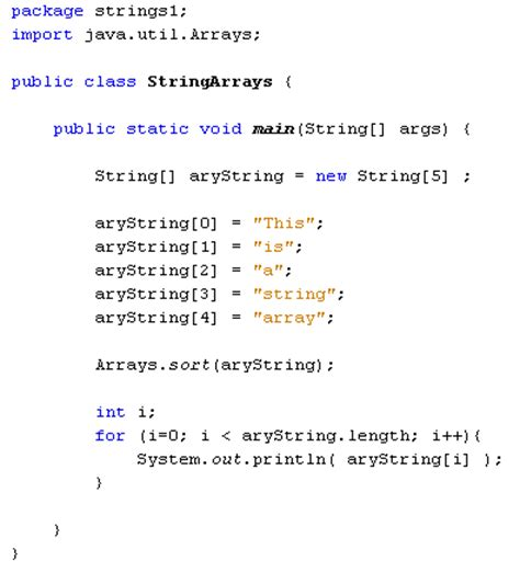 java string template java for complete beginners arrays and strings