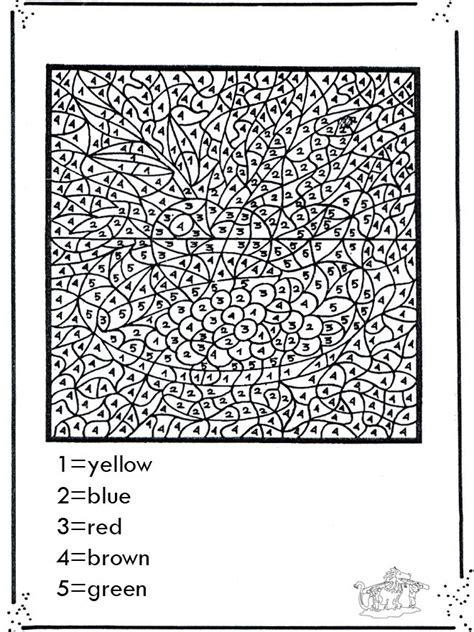 printable paint  numbers  adults coloring home