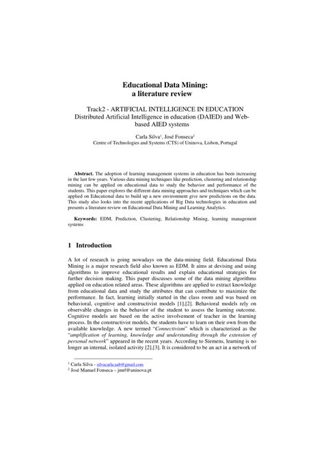 (PDF) Educational Data Mining: A Literature Review