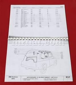 Fiat 500 Giardiniera Body Parts Catalog New