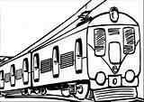 Treinen Coloring Kleurplaten Kleurplaat Electric Trains Passagierstrein Trein Goederentrein sketch template