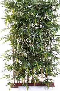 Plante Exterieur Artificielle : haie artificielle bambou new uv r sistant ext rieur balcon terrasse h 150 cm socle 95 cm ~ Teatrodelosmanantiales.com Idées de Décoration