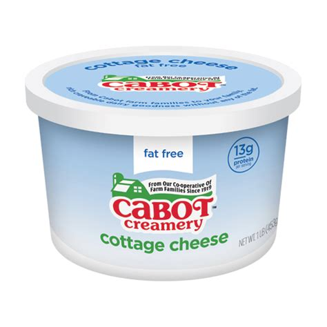 Non Cottage Cheese Nutrition Non Cottage Cheese 1 Pound Tub Cabot Creamery