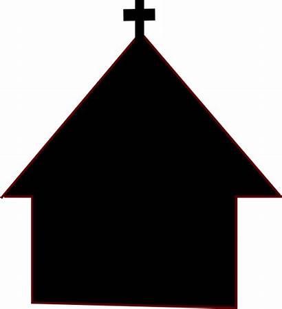 Church Clipart Clip Chapel Silluette Building Cliparts