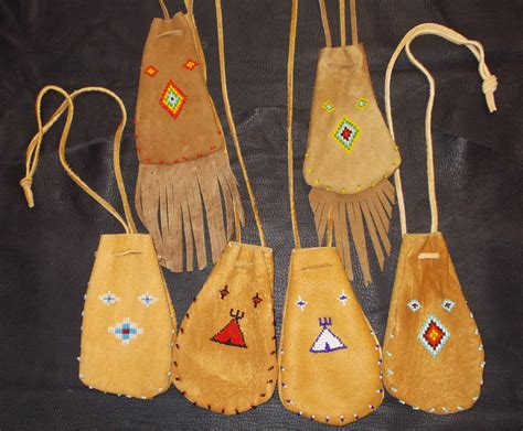 smoked brain tanned medicine bags