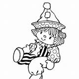 Clown Rag Coloring Doll Surfnetkids Pages Ragdoll sketch template