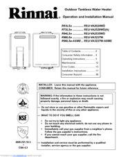 Rinnai R94LSe Manuals | ManualsLib