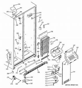 Freezer Section Diagram  U0026 Parts List For Model Hss25ifmdww