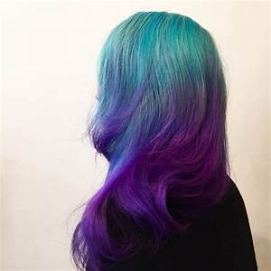 Turquoise To Violet Ombre Hair Hair Colors Ideas Of Purple ...