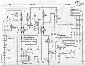 Toyota Coaster Bus Air Conditioning System Circuit Diagram