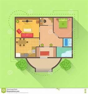 Haus Von Oben : haus boden innenprojektplanungs ansicht von oben vektor abbildung illustration von leben ~ Watch28wear.com Haus und Dekorationen