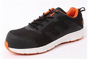 Mens And Womens Black Orange Safety Toe Alloy Toe Sneaker ...