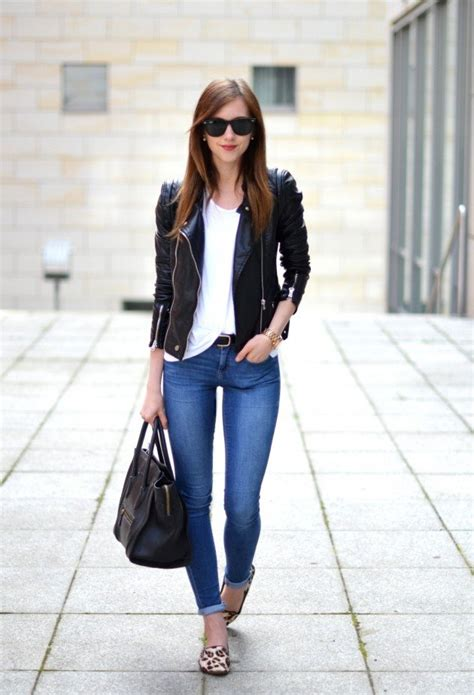 How To Wear Black Leather Jacket This Spring 2018   FashionGum.com