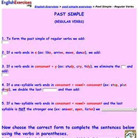 past simple grammar pearltrees